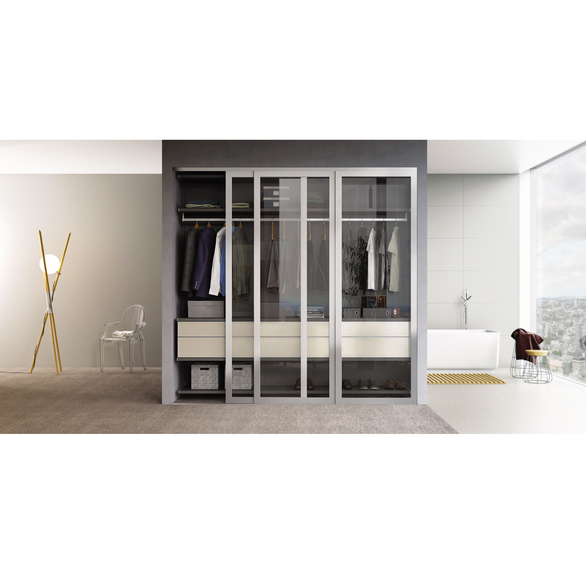 installation wardrobe ideas mirrored oak gasket framed mirror closet and raton trends polished panel boca sasg shaker sliding marvelous aluminum edge of doors bathroom in stunning