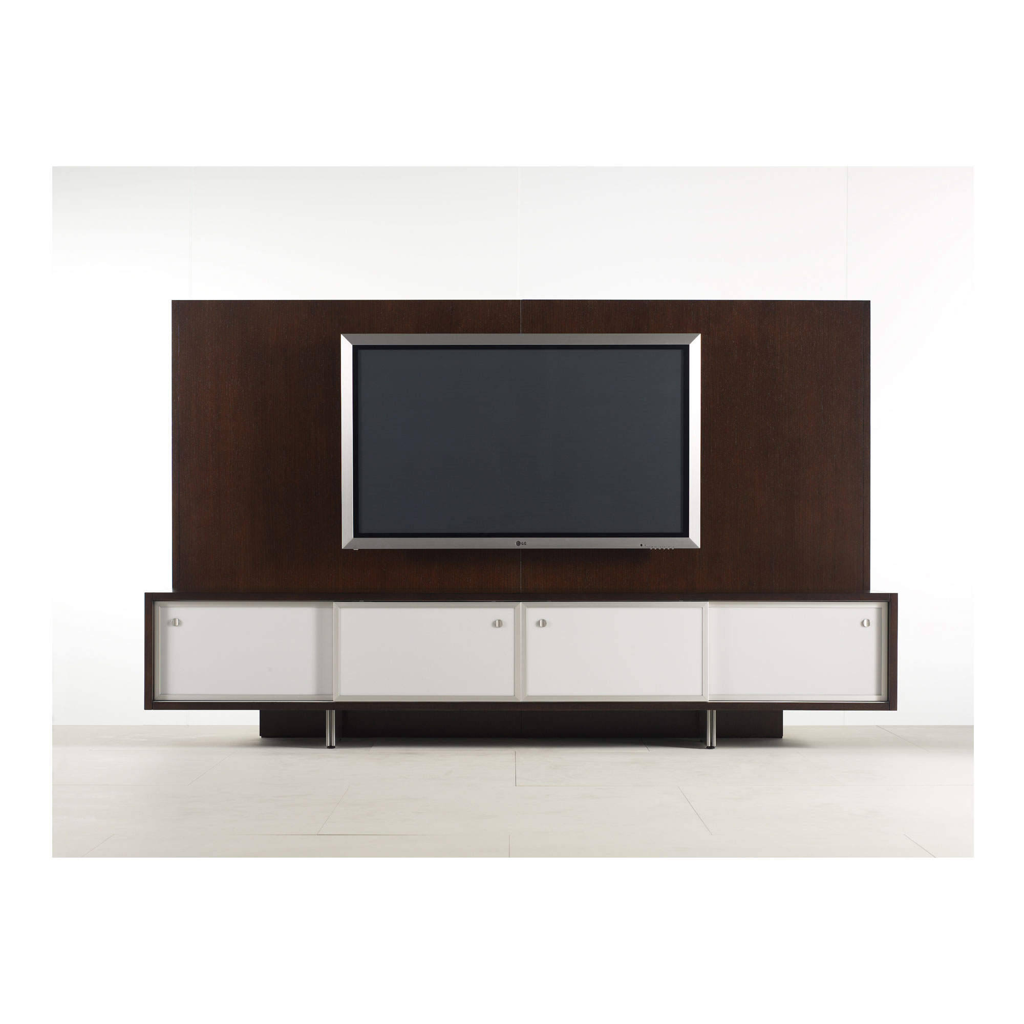 tv credenza with sliding cabinetry doors featuring our